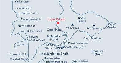 cape evans antarctica map Visitor Site Guidelines 21 Cape Royds cape evans antarctica map